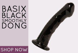 Basix Black Smoothy Dong with Suction Cup