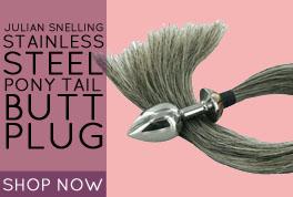 Julian Snelling Stainless Steel Pony Tail Butt Plug