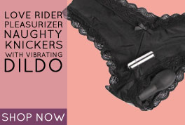 Love Rider Self Pleasurizer Naughty Knickers with Vibrating Dildo